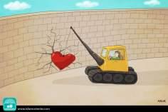 El amor, más fuerte que los muros (Caricatura)