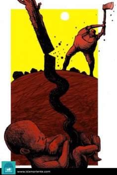 El cordón de la vida (Caricatura)