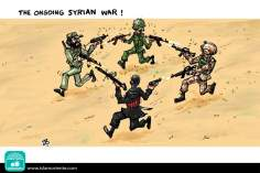 El curso de la guerra en Siria (Caricatura)
