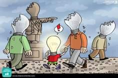 Caricatura - O declínio do pensamento