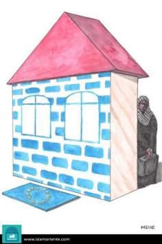 El derecho al refugio (Caricatura)