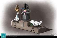 Caricatura - O pódio da morte