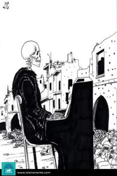 Caricatura - O concerto da morte