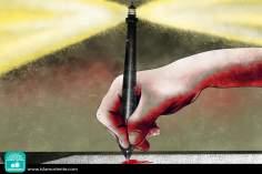 Escribiendo  esperanzas (Caricatura)