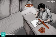 Scrittura forzata (Caricatura)