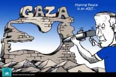 Forging peace... (Caricature)