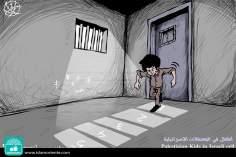 Caricatura - Infância palestina