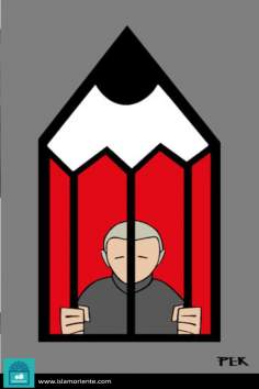 کارٹون - علم کا قیدی