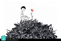 Hope is stronger than war (Caricature)