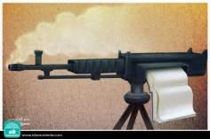 La guerra vs. el conocimiento (Caricatura)