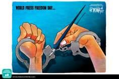 Caricatura - A chave da liberdade