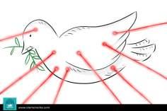 Caricatura - A paz na mira
