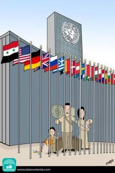 La libertà e il diritto umano (Caricatura)