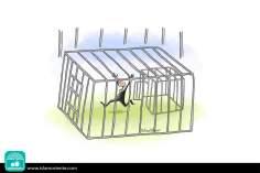 Libertà apparente (Caricatura)