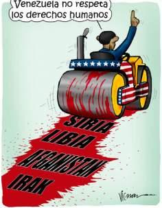 Caricatura - Rolo compressor Americano