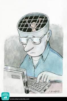 Caricatura - Pensamento condenado