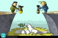 Per la pace (Caricatura)