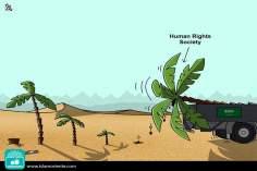 Caricatura - Pelos direitos humanos