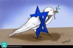 Caricatura - Prisioneira do sionismo