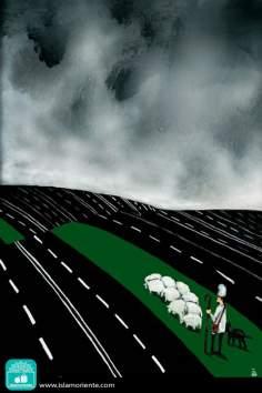 Senderos y vías (Caricatura)