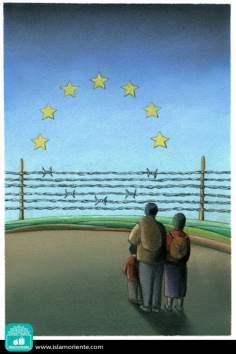 Todos somos refugiados (Caricatura)