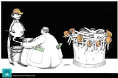 Income and capital (Caricature)