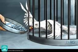 Carcelero inhumano (Caricatura)