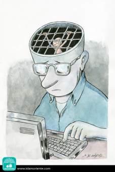 Pensamiento condenado (Caricatura)