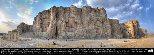 Arquitectura Preislámica - Vista panorámica de Naqsh-e Rostam (el retrato de Rostam), cerca de Persépolis, Fars - 9