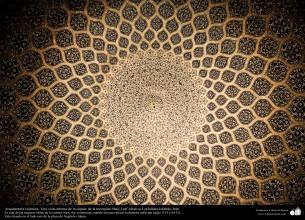 Arquitectura islámica- Una vista interna parcial de una cupula de la mezquita Sheij Lotfollah-Isfahán - 32
