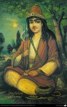 """Pintura tradicional, fresco y mural de inspiración popular persa, estilo """"Cafetería""""- (112)"""