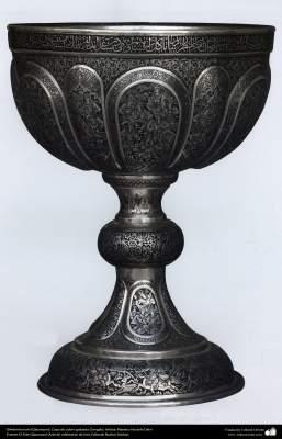 Orfebrería iraní (Qalamzani), Copa de cobre grabada (Sangab), Artista: Maestro Hossein Dalvi - 153