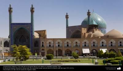 Arquitectura islámica- Una vista de la mezquita Imam Jomeini (mezquita Sha) -Isfahán - 36