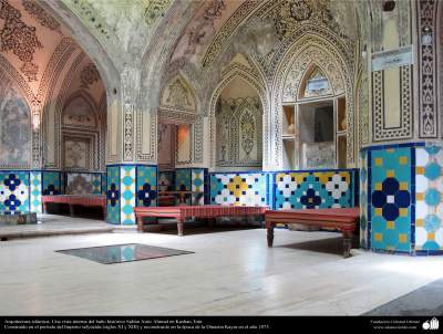 Arquitectura islámica- Una vista interna del baño histórico Sultán Amir Ahmad en Kashan - 231