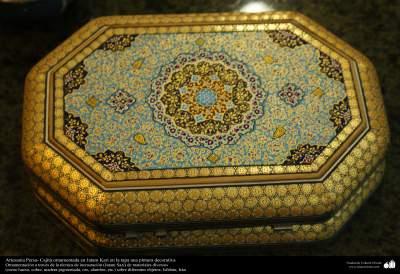Artesanía Persa- Cajitas ornamentadas y una mesa  en Jatam Kari - 5