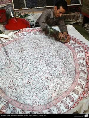 Artesanía Persa- Estampado tradicional en tela (Chape Qalamkar) - 9