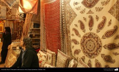 Artesanía Persa- Estampado tradicional en tela (Chape Qalamkar) - 18