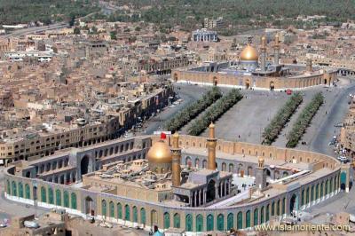 Santuarios del Imam Hussain(P) y Abbas (P) en Karbala . Iraq / Lugares de peregrinación para millones de musulmanes