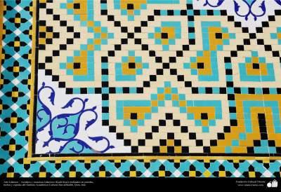 Arte islámico – Azulejos y mosaicos islámicos (Kashi Kari) realizados en paredes, techos y cúpulas del Instituto Académico Cultural Dar-alHadith, Qom, Irán - 87