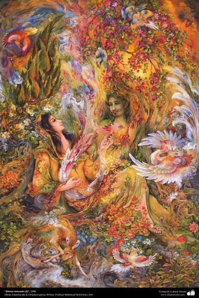"""Ritmos naturales (2)"", 1996, Obras maestras de la miniatura persa; M. Farshchian"