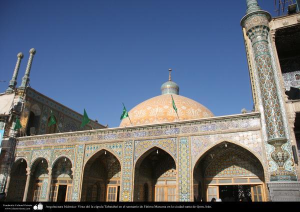 Arquitectura Islámica- Vista del la cúpula Tabatabaí en el santuario de Fátima Masuma en la ciudad santa de Qom, Irán. (33)