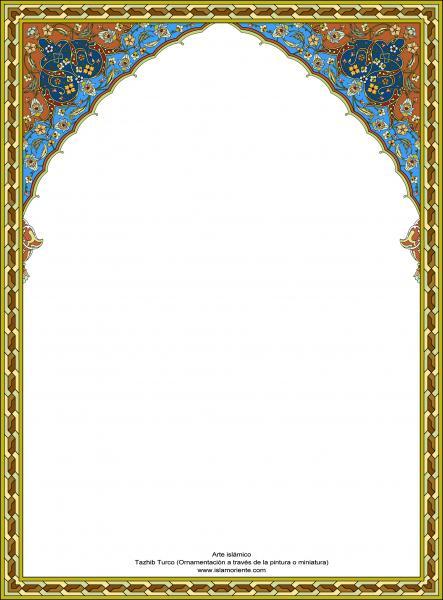 Arte islámico – Tazhib Turco - en cuadro