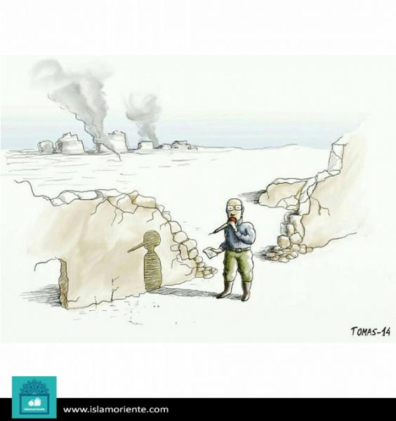 La veracidad del corresponsal (caricatura)