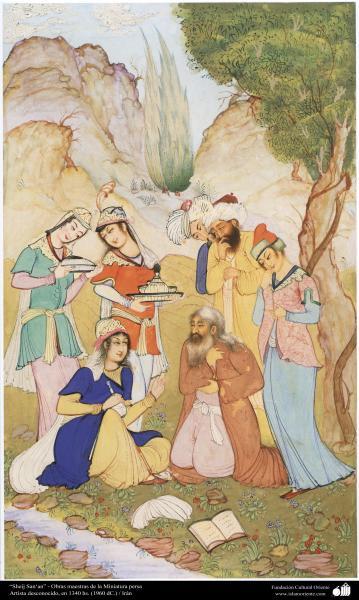 """""""Sheij San'an"""" - Obras maestras de la Miniatura persa- Artista desconocido, en 1960"""