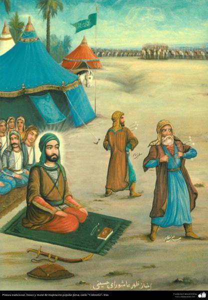 """Pintura tradicional, fresco y mural de inspiración popular persa, estilo """"Cafetería""""- Irán (38)"""