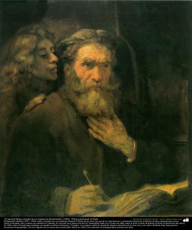 イスラム美術(キャンバス油絵、キャマロルモlク画家の「ラソウルマテイ」、1900年)