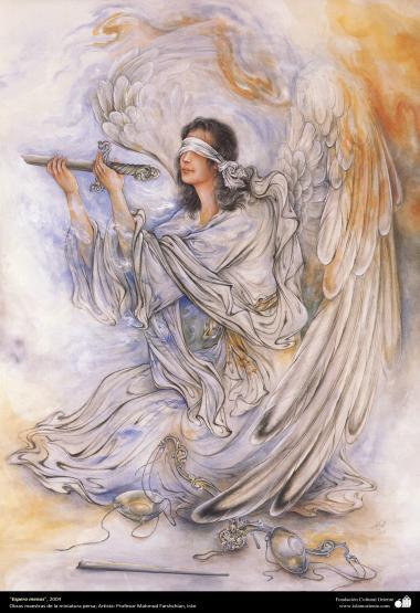 イスラム美術(マフムード・ファルシチアン画家によるミニチュア傑作 - 「そうだといい」- 2004