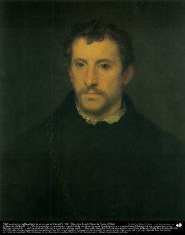 """Portrait of young Englishman (study of an original Rubens)"" (1898) - Oil on canvas - Artist: Kamal ol-Molk"