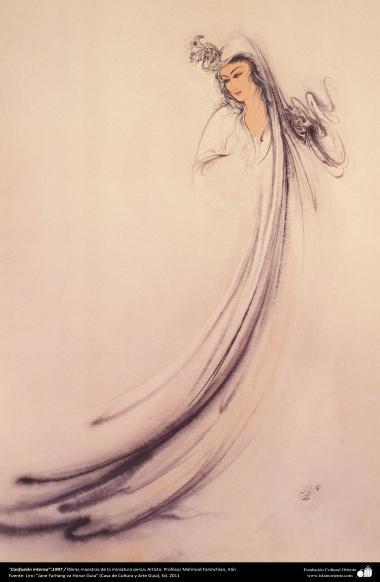 """Confusión interna"":1997 / Obras maestras de la miniatura persa; Artista: Profesor Mahmud Farshchian -2"
