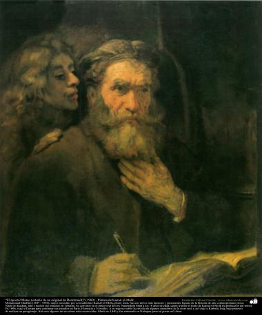 """""""El ápostol Mateo (estudio de un original de Rembrandt)"""" (1900) - Pintura de Kamal ol-Molk"""